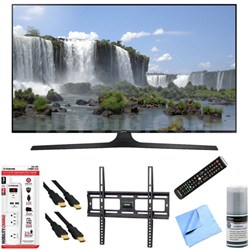 "UN55J6300A - 55"" HD 1080p 120hz Slim Smart LED HDTV Plus Mount & Hook-Up Bundle"