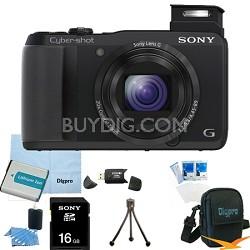 Cyber-shot DSC-HX30V 18.2 MP 20x Optical Zoom Wifi Ultrazoom Camera 16GB Bundle