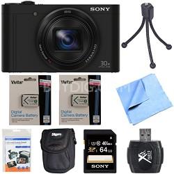 Cyber-Shot DSC-WX500 Digital Camera 3-Inch LCD Screen Black 64GB Deluxe Bundle