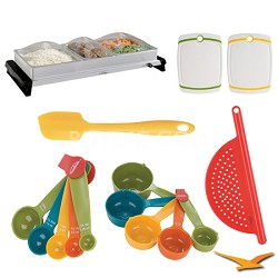 Professional Family-Size Stainless-Steel Buffet Server - Deluxe Bundle