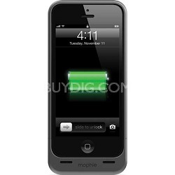 Juice Pack Helium Rechargeable 1500mAh Battery Case for iPhone 5 (Grey)