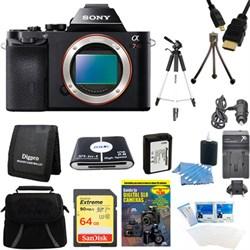 Alpha 7R a7R Digital Camera 64GB SDXC Card, Battery, and Tripod Bundle