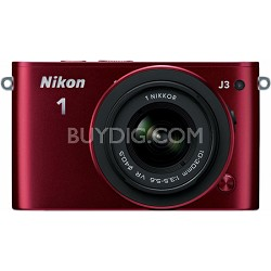 1 J3 14.2MP Red Digital Camera with 10-30mm VR Lens