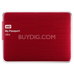 My Passport Ultra 1 TB USB 3.0 Portable Hard Drive - WDBZFP0010BRD-NESN (Red)