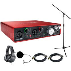 Scarlett 6i6 USB Audio Interface (2nd Gen) w/ Headphone Bundle