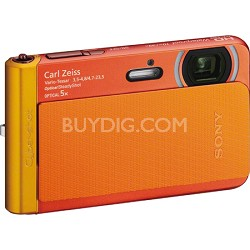 DSC-TX30/B Orange 18.2MP Water, Dust, Freeze & Shockproof Digital Cam - OPEN BOX