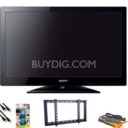 """KDL32BX330 - 32"""" LED HDTV Value Bundle"""