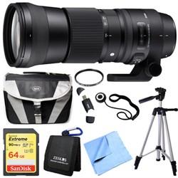 150-600mm F5-6.3 DG OS HSM Zoom Lens (Contemporary) for Nikon DSLR Camera Bundle