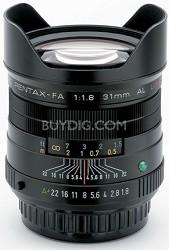 smc P-FA 31mm f/1.8 Auto Focus Limited Edition Lens for SLR Cameras (Black)