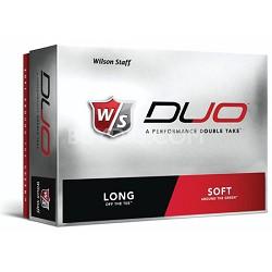 Premium Staff DUO 12-Pack White Golf Balls