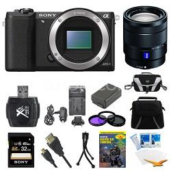 a5100 Mirrorless Camera 32GB 16-70mm f/4 Mid Range Zoom Lens Black Bundle