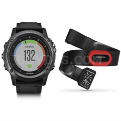 Fenix 3 HR GPS Watch w/ Heart Rate Monitor Performer Bundle - Gray