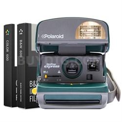 Polaroid 600 Round Camera -Green w/Instant Lab Color Dual Film Bundle