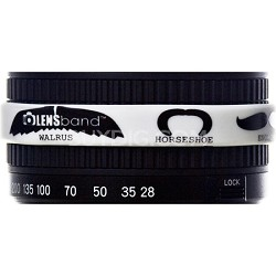 Stop Zoom Creep for One Size Fits All Lens - Mustache w/ White Band