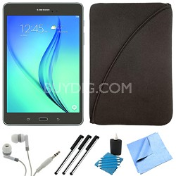 Galaxy Tab A SM-T550NZAAXAR 9.7-Inch Tablet (16 GB, Smoky Titanium) Bundle