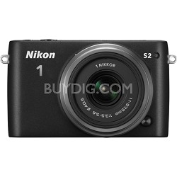 1 S2 Mirrorless 14.2MP Digital Camera with 11-27.5mm Lens - Black