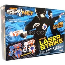 Spynet Laser Tag Spy Challenge- Battle Head To Head- Up To 250 Feet Range!!