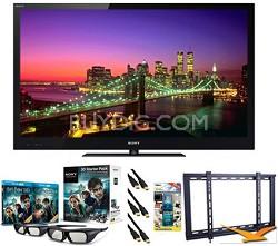 """BRAVIA KDL-55NX720 55"""" 1080p 3D LED HDTV Bundle"""