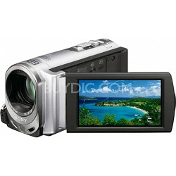 Handycam DCR-SX44 Palm-sized Silver Camcorder w/ 60x Optical Zoom and 4GB memory