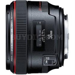 1257B002 EF 50mm f / 1.2L USM Lens with Case LP1214 and Hood ES-78