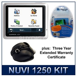 nuvi 1250 GPS Extended Protection Kit Value Bundle