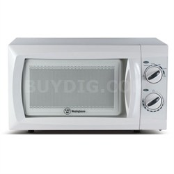 600W Counter Top Microwave Oven, 0.6 Cubic Feet, White