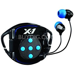 X1-INT4-BK-X Interval Waterproof Headphone System for iPod Shuffle