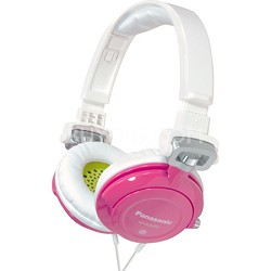 RP-DJS400-Z DJ Street Model Headphones (Pink)