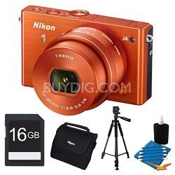 1 J4 Mirrorless Digital Camera with 10-30mm Lens Orange Kit