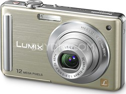 """DMC-FS25N LUMIX 12.1 MP Compact Digital Camera w/ 3.0"""" Intelligent LCD (Gold)"""