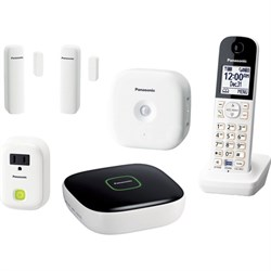 KX-HN6003W Smart Home Monitoring System Home Monitoring and Control Kit (White)
