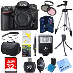"D7200 DX-Format 24.2MP Digital HD-SLR Body with 3.2"" LCD WiFi NFC Deluxe Bundle"