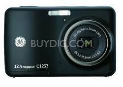 C1233 12MP Digital Camera with 3X Optical Zoom and 2.4 Inch LCD with Auto Bright
