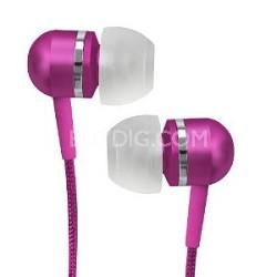 CVEM79PNK Jammerz Platinum High-Performance Isolation Stereo Earphones (Pink)