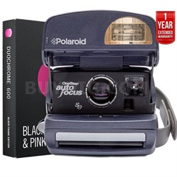 Polaroid 600 Round Camera Blue +Instant Film+1 Year Extended Warranty