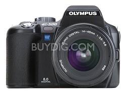 Evolt E-500 Digital SLR with Zuiko 14-45mm f/3.5-5.6 Lens Kit