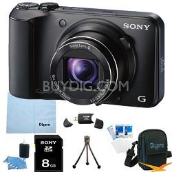 Cyber-shot DSC-H90 16.1 MP 16x Optical Zoom HD Video Camera (Black) 8GB Bundle