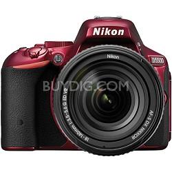 D5500 Red DX-format DSLR Camera w/ AF-S NIKKOR 18-140mm f/3.5-5.6G ED VR Lens