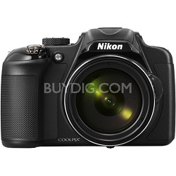 COOLPIX P600 16.1MP Digital Camera - Black Factory Refurbished