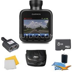 Dash Cam 20 Standalone HD Driving Recorder Plus Deluxe 8 GB Accessory Bundle