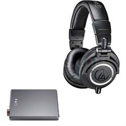ATH-M50X Professional Studio Headphones (Black) + Fiio E12 Portable Amplifier