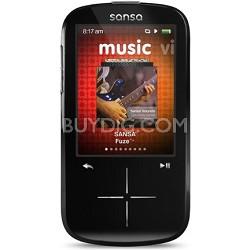Sansa Fuze+ 4GB Black MP3 MP4 Video Music Player w/ FM Radio