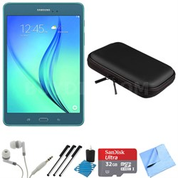 Galaxy Tab A 8-Inch Tablet (16 GB, Smoky Blue) 32GB Memory Card Bundle