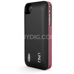Exera Modular Detachable Battery Case for iPhone 4S 4 - Pink/Black