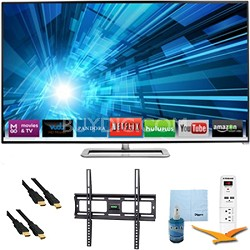 60-inch 1080p 240Hz 3D LED Smart HDTV Plus Mount & Hook-Up Bundle - M601D-A3R