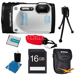 TG-850 16MP Waterproof Shockproof Freezeproof Digital Camera White Kit