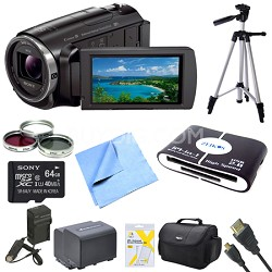 HDR-PJ670 Full HD 60p Camcorder w/ Built-In Projector Deluxe Bundle