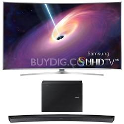 "UN55JS9000 Curved 55"" 2160p 3D 4K SUHD LED TV HW-J6500 Soundbar Bundle"