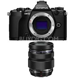 OM-D E-M5 Mark II Micro Four Thirds Black Digital Camera 12-40mm Lens Bundle
