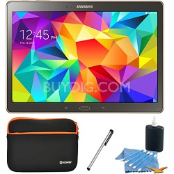 "Galaxy Tab S 10.5"" Tablet - (16GB, WiFi, Titanium Bronze) Accessory Bundle"